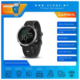Garmin Forerunner 645 Music 42mm GPS Running Watch with Music and Contactless Payments Smart (Black Colered Band)