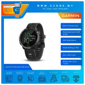 Garmin Forerunner 645 Music 42mm GPS Running Watch with Music and Contactless Payments Smartwatch (Slate Band)
