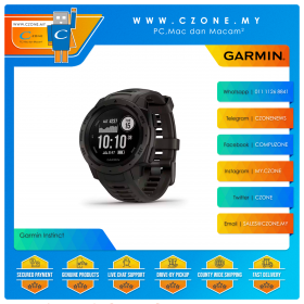 Garmin Instinct 45mm Rugged GPS Watch Built to Withstand the Toughest Environments Smartwatch (Graphite)