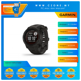 Garmin Instinct Solar 45mm Rugged GPS Watch Built to Withstand the Toughest Environments Smartwatch (Graphite)
