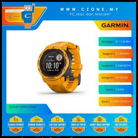 Garmin Instinct Solar 45mm Rugged GPS Watch Built to Withstand the Toughest Environments Smartwatch (Sunburst)