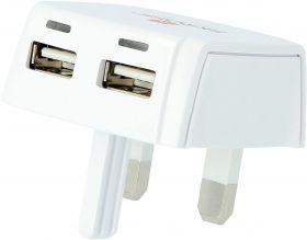 Skross UK Plug USB Charger (2x USB, 2.4A)