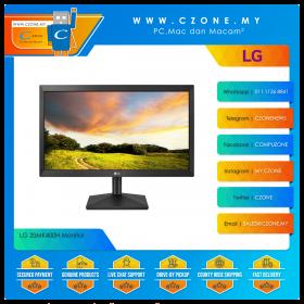 """LG 20MK400H Monitor (19.5"""",1366x768, TN, 60Hz, 2ms, D-Sub, HDMI, VESA)"""