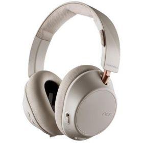 Plantronics Backbeat Go 810 Noise Cancelling Over-Ear Wireless Headphones (Bone White)
