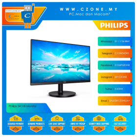 "Philips 241V8 Monitor (23.8"", 1920x1080, IPS, 75Hz, 4ms, D-Sub, HDMI, VESA)"