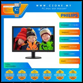 """Philips 243V5QHSBA Monitor (23.6"""", 1920x1080, MVA, 60Hz, 8ms, D-Sub, DVI, HDMI, VESA)"""