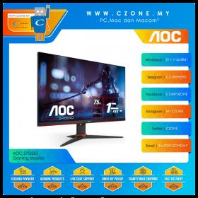 "AOC 27G2E5 Gaming Monitor (27"", 1920x1080, IPS, 75Hz, 1ms, D-Sub, HDMI, DP, VESA)"