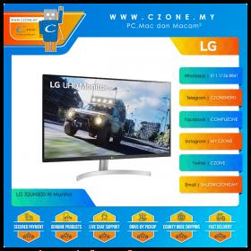 """LG 32UN500-W Monitor (31.5"""", 3840x2160, VA, 60Hz, 4ms, HDMIx2, DP, Speakers, VESA)"""