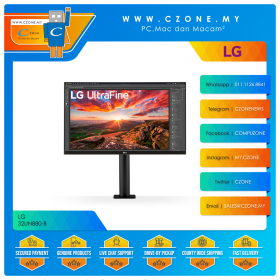 "LG 32UN880-B Monitor (31.5"", 3840x2160, IPS, 60Hz, 5ms, DP, HDMIx2, USB-C, SPK, VESA)"