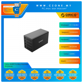 "Orico 3549C3 4-Bay Harddisk Enclosure (4-Bay 3.5"", USB 3.1 Gen2, Daisy Chain, Black)"