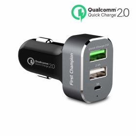 First Champion Car Charger (USB-C, 9A 45 Watts, Grey)