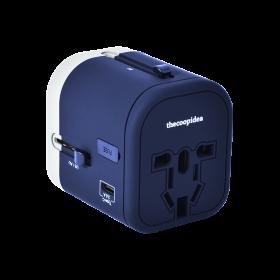Thecoopidea CP-ADP04 Wander Plus Travel Adapter (3x USB, 1x USB-C, Universal Plug, Navy)