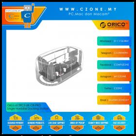 """Orico 6139C3-UK-CR-PRO Single Harddisk Docking Station (Single Dock 2.5""""/3.5"""", USB 3.0, Transparent)"""