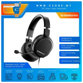 Steelseries Arctis 1 Over-Ear Wired Gaming Headset For PS4 & PS5 (Black)