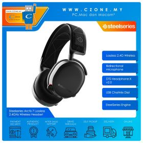 Steelseries Arctis 7 Lossless 2.4GHz Over-Ear Wireless Gaming Headset (Black)