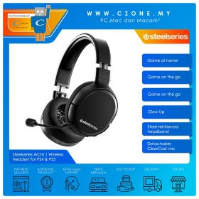 Steelseries Arctis 1 Wireless Gaming Headset For PS4 & PS5 (Black)