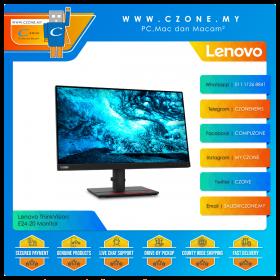 """Lenovo ThinkVision E24-20 Monitor (24"""", 1920x1680, IPS, 60Hz, 14ms, HDMI, DP, VGA, VESA)"""