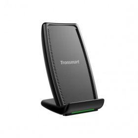Tronsmart Air Amp Qi Wireless Charger (10 Watts, Stand, Black)