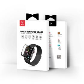 MrYes Clear Full Cover Tempered Glass (Apple Watch 44mm)
