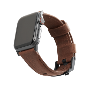 UAG Leather Strap (Apple Watch 44mm/42mm, Brown)