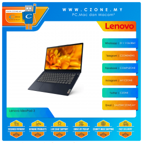 "Lenovo IdeaPad 3 81WA00BVMJ Laptop - 14"", Celeron 5205U, 1.9GHz, 4GB, 256GB SSD, UHD, Win 10 (Platinum Grey)"