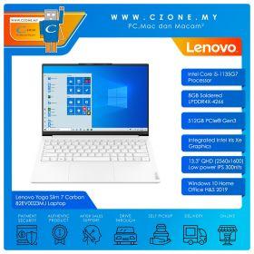 "Lenovo Yoga Slim 7 Carbon 82EV0023MJ Laptop - 13.3"", i5-1135G7, 2.4GHz, 8GB, 512GB SSD, Iris XE, Win 10, Office H&S (Moon White)"