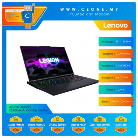 "Lenovo Legion 5  82JU004RMJ Gaming Laptop - 15.6"", R7-5800H, 2.1GHz, 16GB, 1TB SSD, RTX 3060 , Win 10 (Phantom Blue)"