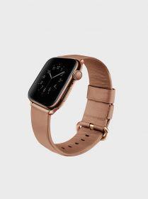 Uniq Mondain Genuine Leather Watch Band (Apple Watch 40mm, Coral Pink)