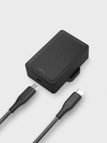 Uniq Versa Slim Wall Charger (1x USB-C PD, USB-C Cable, 18 Watts, Charcoal)
