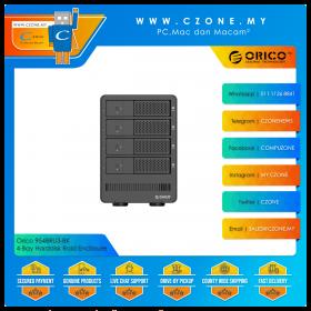 """Orico 9548RU3-BK 4-Bay Harddisk Raid Enclosure (4-Bay 3.5"""", USB 3.0, Raid 0, Raid 1, Raid 5, JBOD)"""