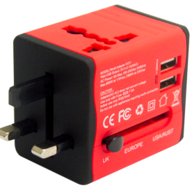 Travelead E151 Universal Adapter with 2 USB Charger