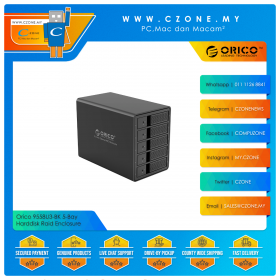 "Orico 9558U3-BK 5-Bay Harddisk Raid Enclosure (5-Bay 3.5"", USB 3.0)"