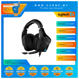 Logitech G633s Artemis 7.1 Surround Lightsync Over-Ear Wired Gaming Headset