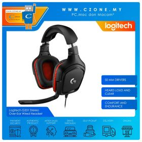 Logitech G331 Stereo Over-Ear Wired Gaming Headset