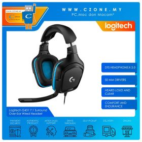 Logitech G431 7.1 Surround Over-Ear Wired Gaming Headset