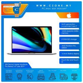 "Apple MacBook Pro Retina 16"" Late 2019 - MVVJ2ZP/A - Intel Core i7 2.6GHz, 16GB, 512GB, Radeon Pro 5300M, Touch Bar (Space Grey)"