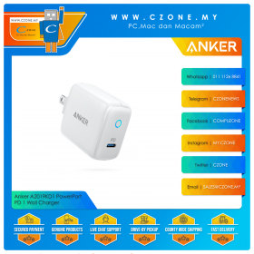 Anker A2019KD1 PowerPort PD 1 Wall Charger (1x USB-C PD, 18 Watts, White)
