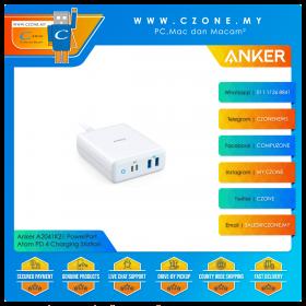 Anker A2041K21 PowerPort Atom PD 4 Charging Station (2x USB IQ, 2x USB-C PD, 100 Watts, White)