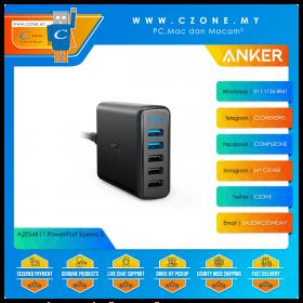 Anker A2054K11 PowerPort Speed 5 (3x USB, 2x USB QC 3.0, 63 Watts, Black)