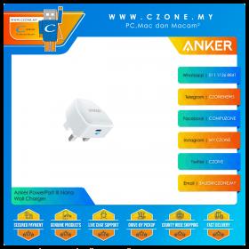 Anker PowerPort III Nano Wall Charger  (1x USB-C, 20 Watts, White)