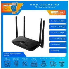 Totolink A3002RU Wireless Router (Dual Band-AC1200, Gigabit)