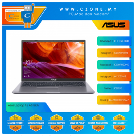 """Asus Laptop 15 A516EA BR1590TS Laptop - 15.6"""", i3-1115G4, 1.7GHz, 8GB, 256GB SSD, UHD, Win 10, Office H&S (Slate Grey) *** no bag"""
