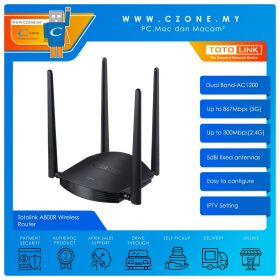 Totolink A800R Wireless Router (Dual Band-AC1200)