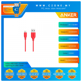 Anker A8012H91 PowerLine+ Lightning to USB Cable (0.9M, Red)