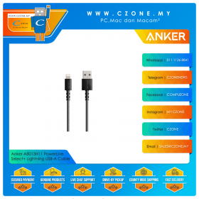 Anker A8013H11 PowerLine Select+ Lightning to USB-A Cable (1.8M, Black)