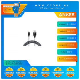 Anker A8122HA2 PowerLine+ Lightning to USB Cable (1.8M, Grey)