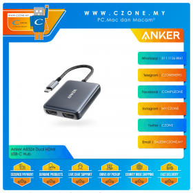 Anker A8324 Dual HDMI USB-C Hub