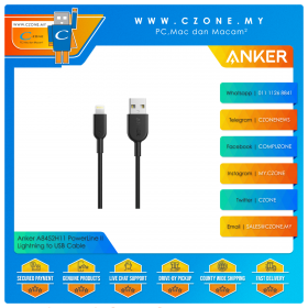 Anker A8452H11 PowerLine II Lightning to USB Cable (0.9M, Black)