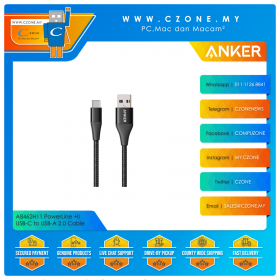 Anker A8462H11 PowerLine +II USB-C to USB-A 2.0 Cable (1.8M, Black)