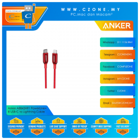 Anker A8842H91 PowerLine+ III USB-C to Lightning Cable (0.9m, Red)